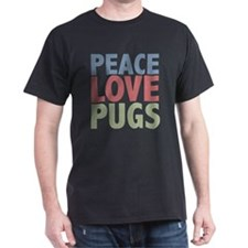 Peace Love Pugs T-Shirt