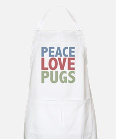 Peace Love Pugs BBQ Apron
