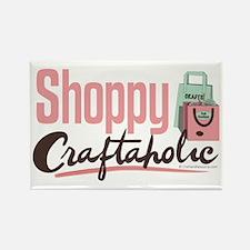 Shoppy Craftaholic Rectangle Magnet