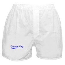 Vintage Garden City (Blue) Boxer Shorts