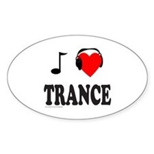 TRANCE MUSIC Oval Decal