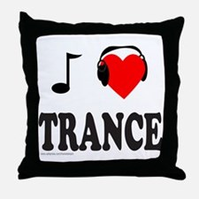 TRANCE MUSIC Throw Pillow