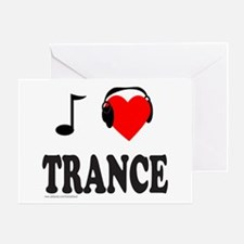 TRANCE MUSIC Greeting Card