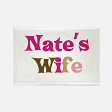 Nate's Wife Rectangle Magnet