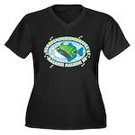 Humuhumu Women's Plus Size V-Neck Dark T-Shirt