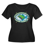 Humuhumu Women's Plus Size Scoop Neck Dark T-Shirt