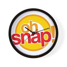 Oh Snap! Wall Clock