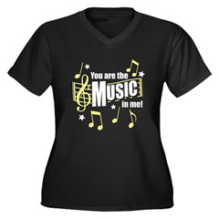 You Are The Music In Me Women's Plus Size V-Neck D
