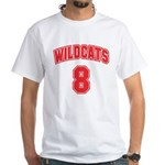 Wildcats 8 White T-Shirt