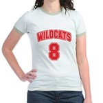 Wildcats 8 Jr. Ringer T-Shirt