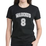 Wildcats 8 Women's Dark T-Shirt