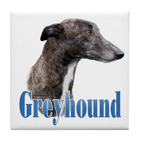 Greyhound Name Tile Coaster