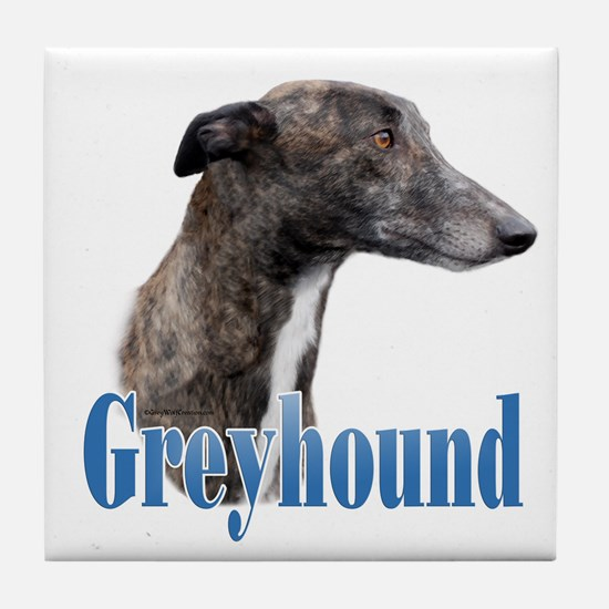 Greyhound Name Tile Coaster