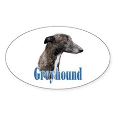 Greyhound Name Oval Decal