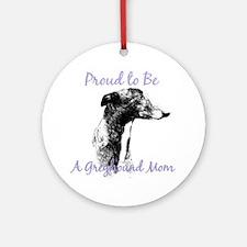 Greyhound Mom1 Ornament (Round)
