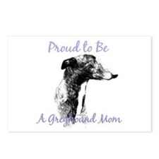 Greyhound Mom1 Postcards (Package of 8)