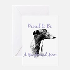Greyhound Mom1 Greeting Card