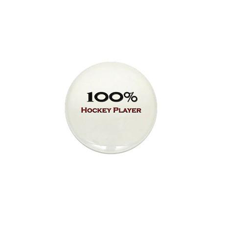 100 Percent Hockey Player Mini Button (10 pack)