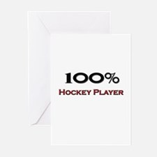 100 Percent Hockey Player Greeting Cards (Pk of 10