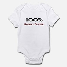 100 Percent Hockey Player Infant Bodysuit
