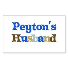 Peyton's Husband Rectangle Decal