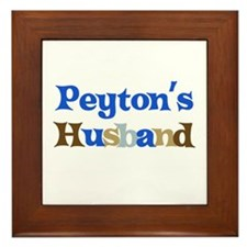 Peyton's Husband Framed Tile