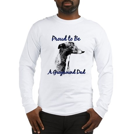 Greyhound Dad1 Long Sleeve T-Shirt