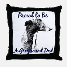Greyhound Dad1 Throw Pillow