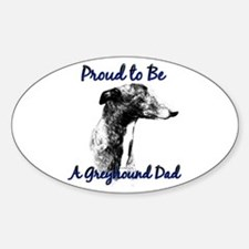 Greyhound Dad1 Oval Decal
