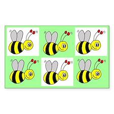 Bumble Bees Rectangle Decal