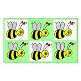 Bumble bee stickers Bumper Stickers