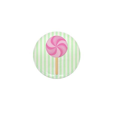 Pink Lollipop Mini Button