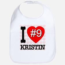I Love Kristin #9 Bib