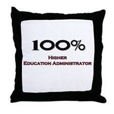 100 Percent Higher Education Administrator Throw P