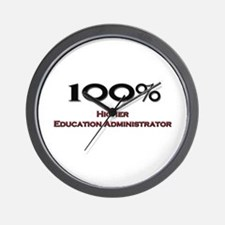 100 Percent Higher Education Administrator Wall Cl