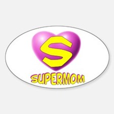 Supermom 2 Oval Decal