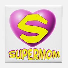Supermom 2 Tile Coaster
