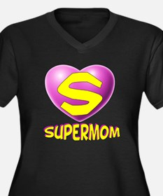 Supermom 2 Women's Plus Size V-Neck Dark T-Shirt