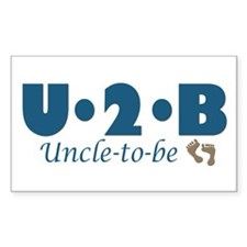 Uncle to Be Rectangle Decal