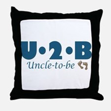 Uncle to Be Throw Pillow