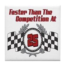 Racing At 25 Tile Coaster
