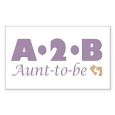 Aunt to Be Rectangle Decal