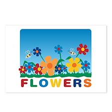 """Flowers"" Postcards (Package of 8)"
