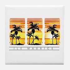 Coco tree mru3 Tile Coaster