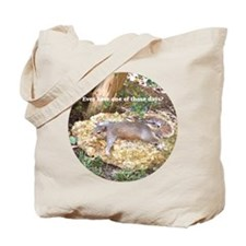 Tired Squirrel Tote Bag