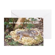 Tired Squirrel Greeting Card