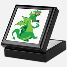 Flower Dragon Keepsake Box