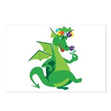 Flower Dragon Postcards (Package of 8)