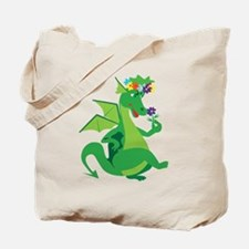 Flower Dragon Tote Bag
