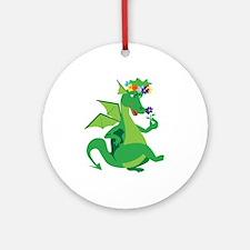Flower Dragon Ornament (Round)